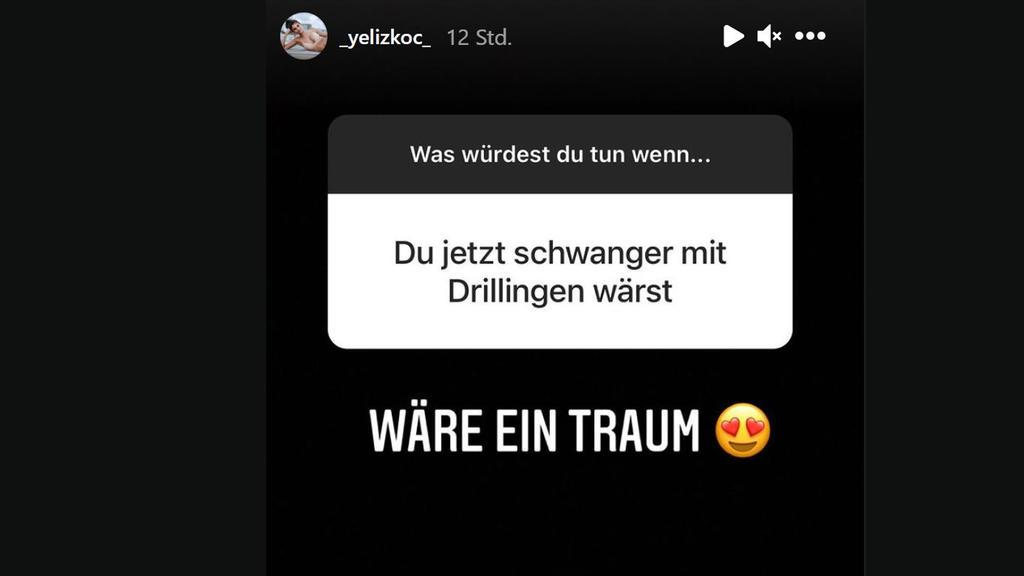 In einem Instagram Q&A wollen Yeliz' Follower wissen, ob sie sich Kinder wünscht.