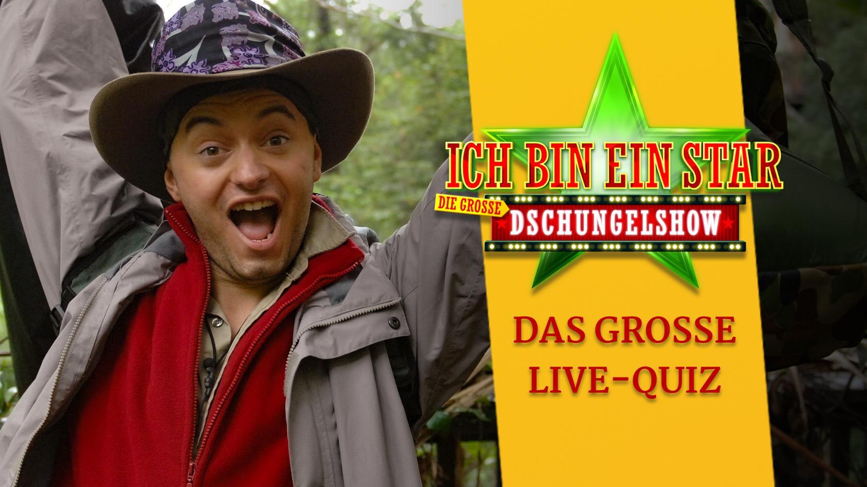 Live-Quiz zur Dschungelshow  mit Julian F.M. Stoeckel bei RTL.de