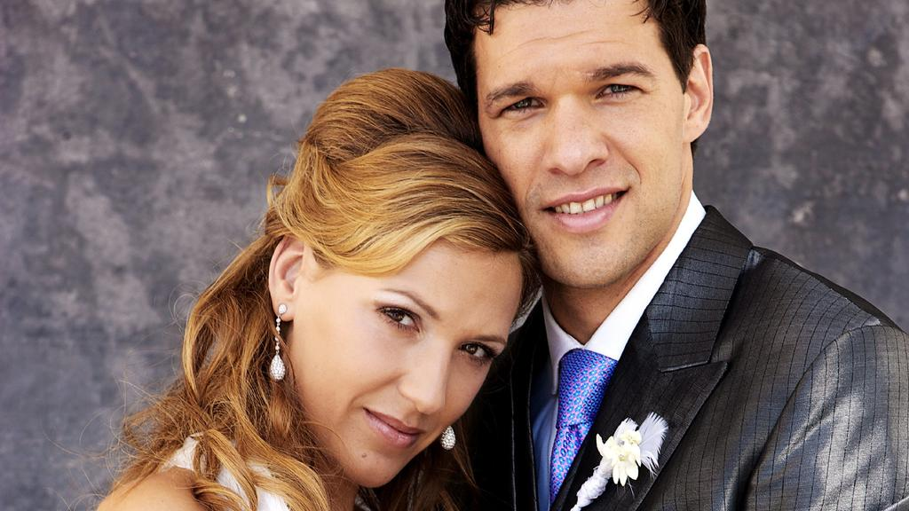 Michael und Simone Ballack bei ihrer Hochzeit im Jahr 2008.