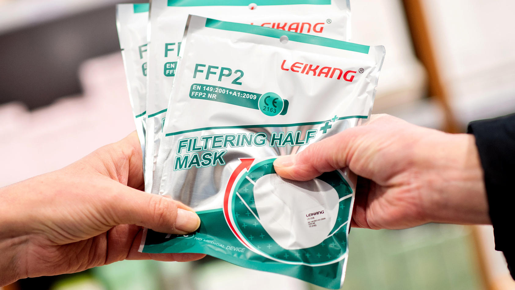 Coronavirus - Ausgabe von FFP2-Masken