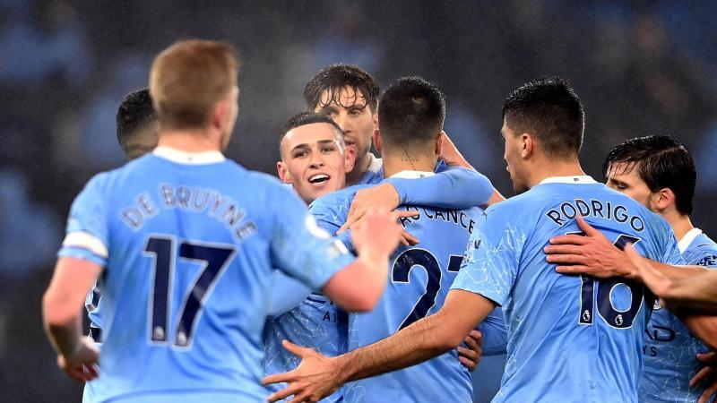 Manchester City gewann gegen Brighton. Foto: Laurence Griffiths/PA Wire/dpa