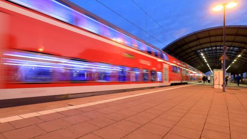 Ein Regionalzug im Hauptbahnhof von Halle/Saale. Foto: Peter Gercke/dpa-Zentralbild/dpa