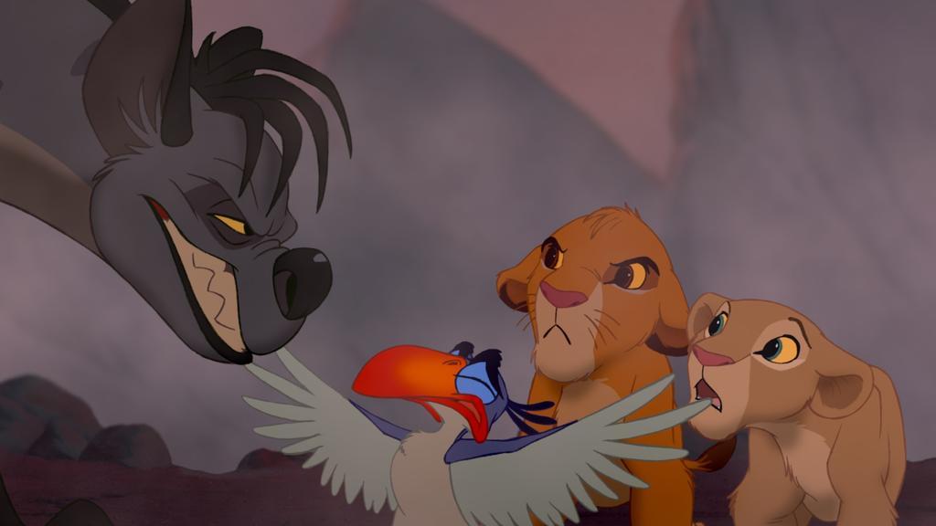 Die Hyänen hätten auch Simba und Nala gefressen, wenn Mufasa nicht dazwischengekommen wäre!