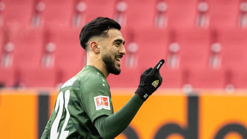 Stuttgarts Nicolas Gonzalez freut sich über einen Treffer. Foto: Matthias Balk/dpa/Archivbild