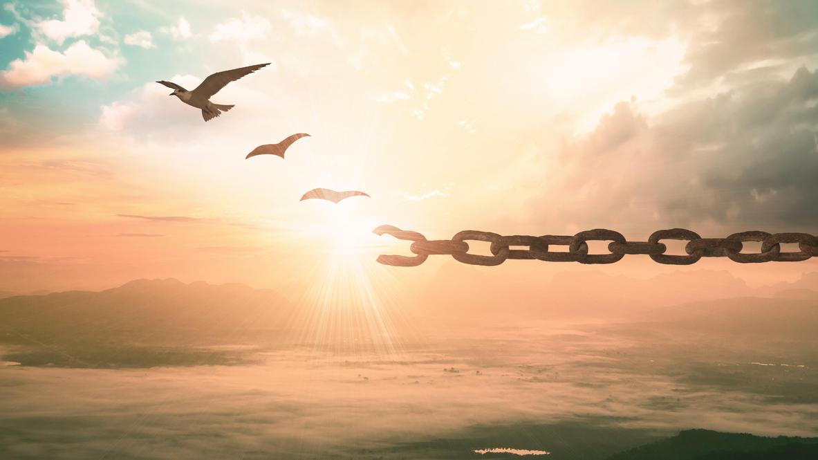 Wer loslassen kann, wird sich freier fühlen.