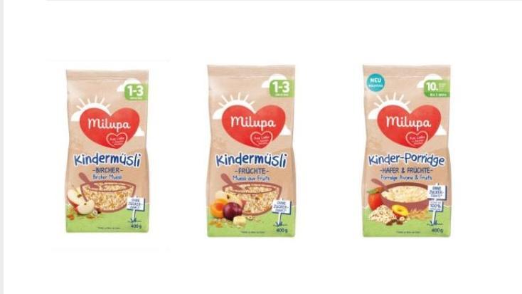 Milupa hat Kindermüsli sowie Kinder-Porridge zurückgerufen.