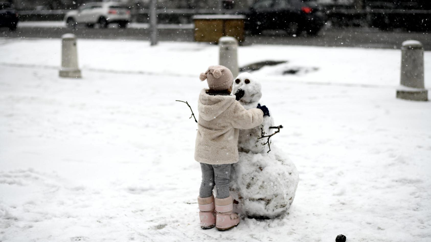Symbol: Kind im Schnee