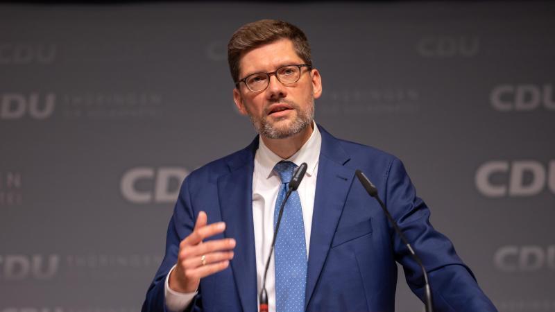 Christian Hirte, Landesvorsitzender der CDU Thüringen. Foto: Michael Reichel/dpa/Archivbild