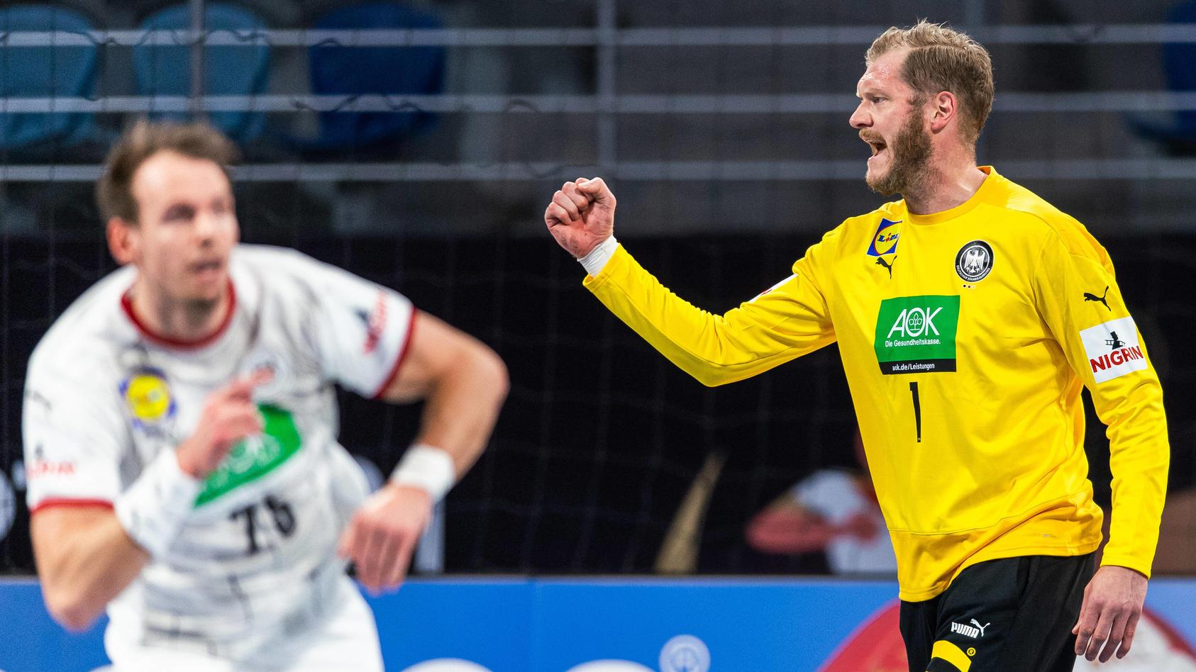 Deutschland-Keeper Johannes Bitter jubelt im Spiel gegen Uruguay (Archiv).