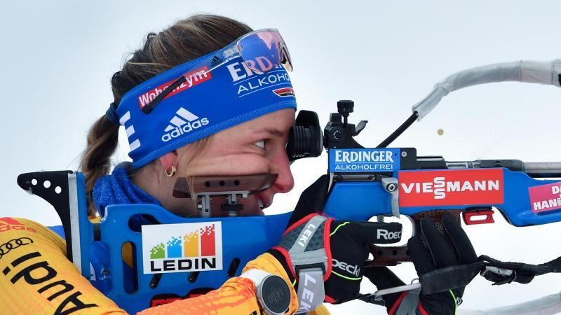 Vanessa Hinz aus Deutschland während desWettkampfes. Foto: Martin Schutt/dpa-Zentralbild/dpa