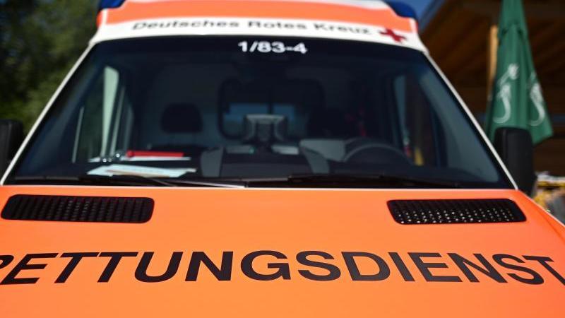 """Ein Rettungswagen mit der Aufschrift """"Rettungsdienst"""". Foto: Patrick Seeger/dpa"""