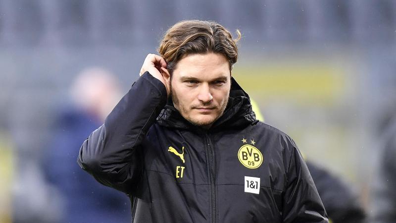 Edin Terzic trifft mit dem BVB in der englischen Woche zunächst auf Bayer 04 Leverkusen und dann auf Borussia Mönchengladbach. Foto: Martin Meissner/Pool AP/dpa