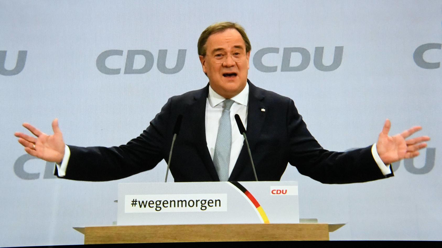 Mehr als die Hälfte der Wahlberechtigten begrüßen die Entscheidung zum CDU-Chef für Laschet.