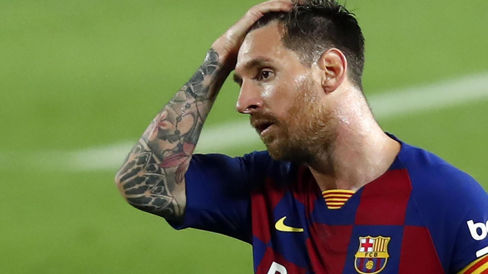 Lionel Messi sah im 753. Pflichtspiel für den FC Barcelona zum ersten Mal die Rote Karte