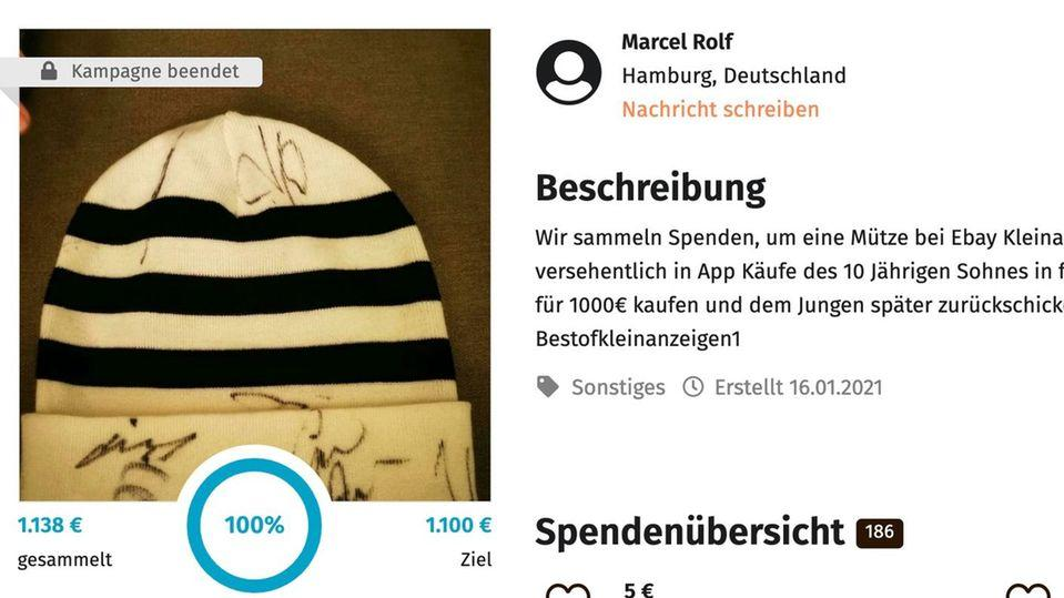 Autogramme von Zinedine Zidane, Jogi Löw und Phillipp Lahm: Diese Mütze mit musste ein Junge bei Ebay-Kleinanzeigen verkaufen