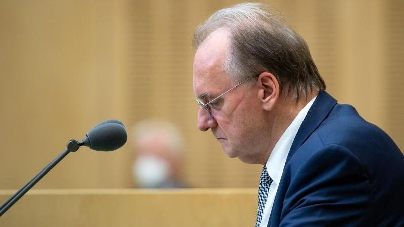 Reiner Haseloff (CDU), Ministerpräsident von Sachsen-Anhalt, spricht. Foto: Bernd von Jutrczenka/dpa