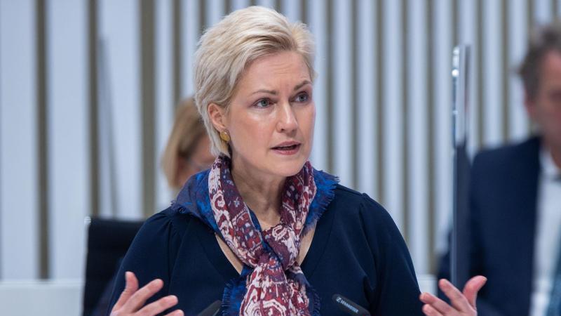 Manuela Schwesig (SPD), Ministerpräsidentin von Mecklenburg-Vorpommern, spricht im Landtag. Foto: Jens Büttner/dpa-Zentralbild/dpa/Archiv