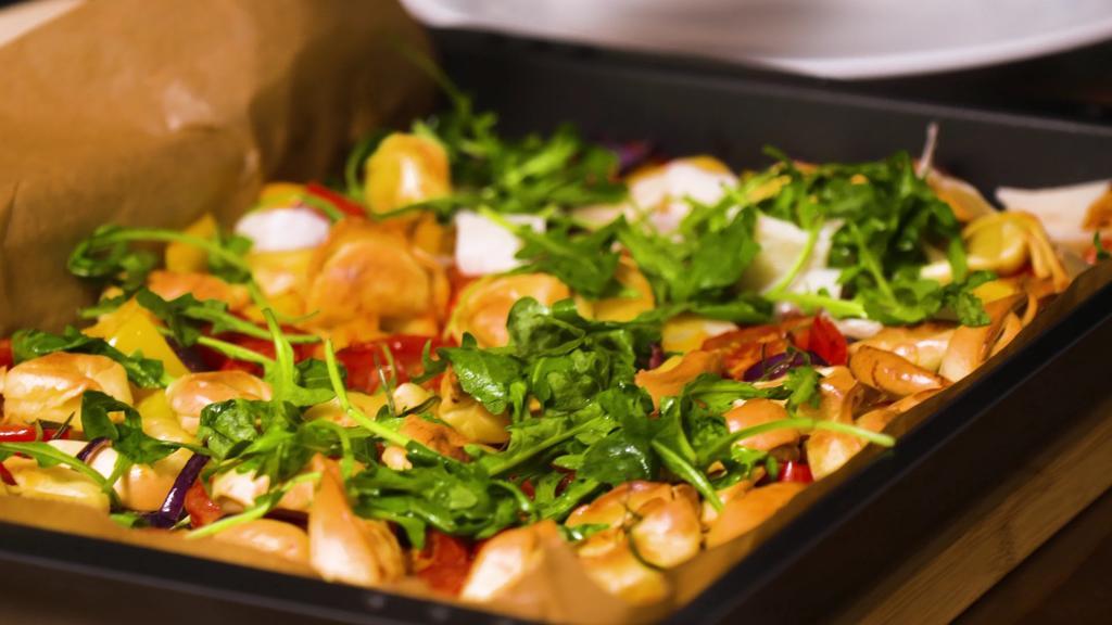 Ofen-Ravioli mit Gemüse