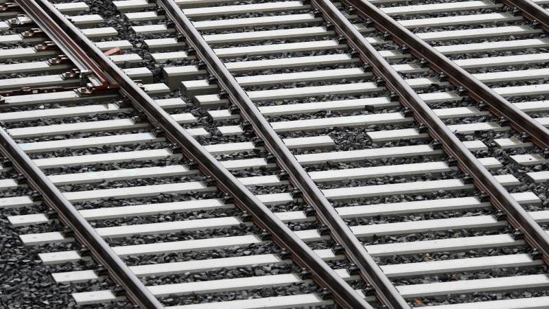 Gleisbauarbeiten am Bahnknoten in Roßlau in Sachsen-Anhalt. Nicht nur bestehende Strecken pflegen, sondern auch neue bauen: Acht Verbände aus der Bahn-Industrie haben die künftige Bundesregierung aufgefordert, mehr Geld und mehr Aufmerksamkeit für den Aus