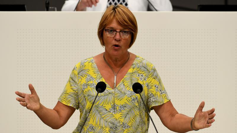 Die Grünen-Abgeordnete Meta Janssen-Kucz spricht. Foto: Holger Hollemann/dpa/Archivbild