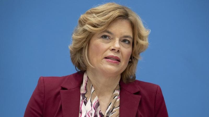 Bundesagrarministerin Julia Klöckner (CDU) spricht. Foto: Michael Sohn/POOL AP/dpa/Archivbild