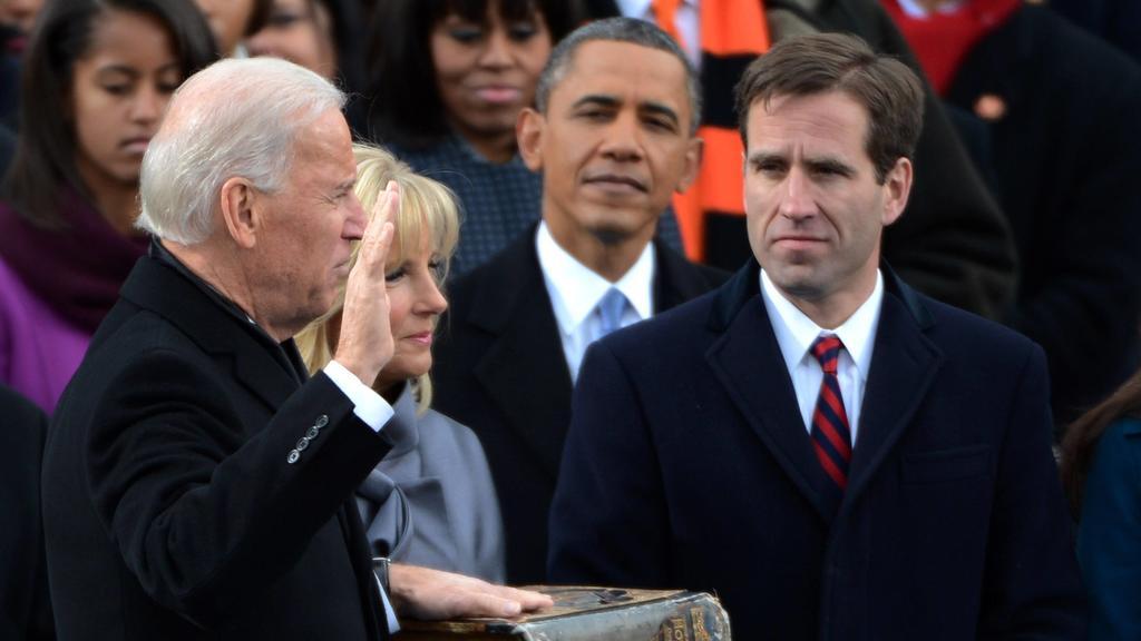 Joe, Jill und Beau Biden beim Amtseid 2013