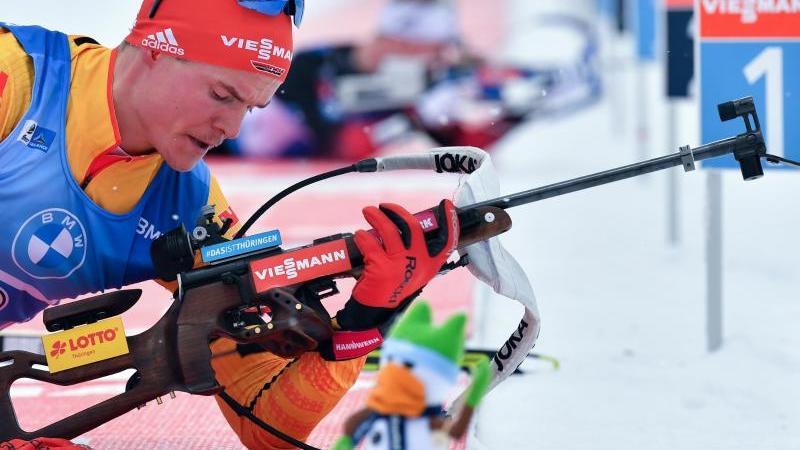 Geht im 20-Kilometer-Einzelrennen der Männer mit der Nummer 26 an den Start: Philipp Horn. Foto: Martin Schutt/dpa-zentralbild/dpa