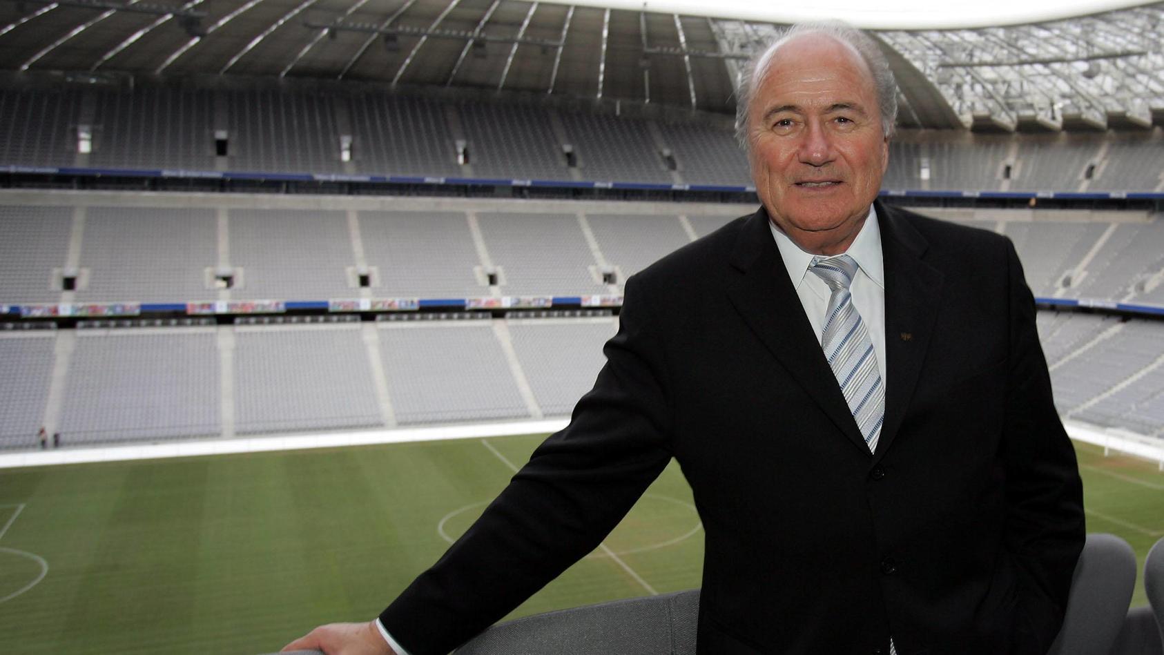 Sepp Blatter in der Münchner Allianz-Arena.