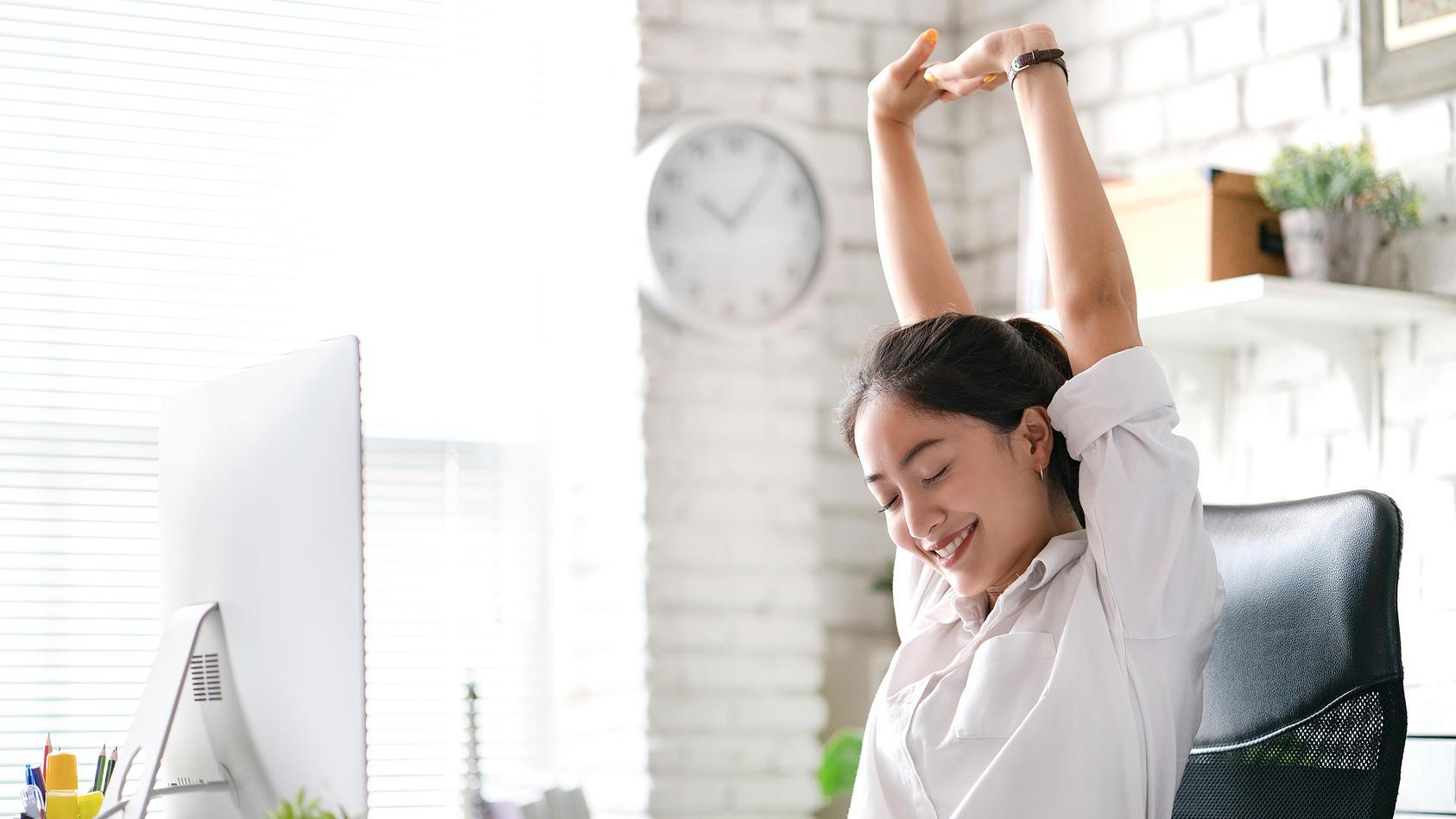 Ein ergonomischer Bürostuhl ist gut für Ihr Wohlbefinden.