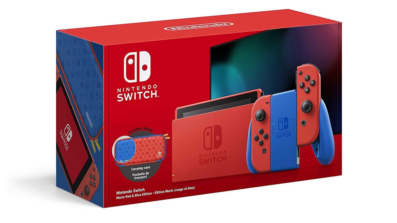 Die Nintendo Switch in der Mario Red & Blue Edition erscheint Mitte Februar.