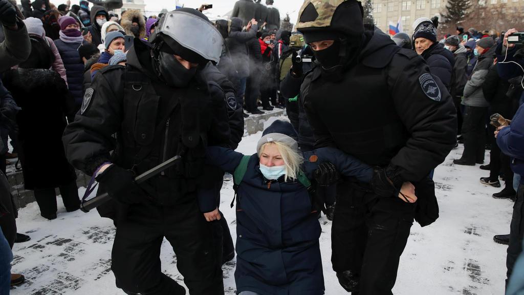 Festnahme bei Nawalny-Demonstration