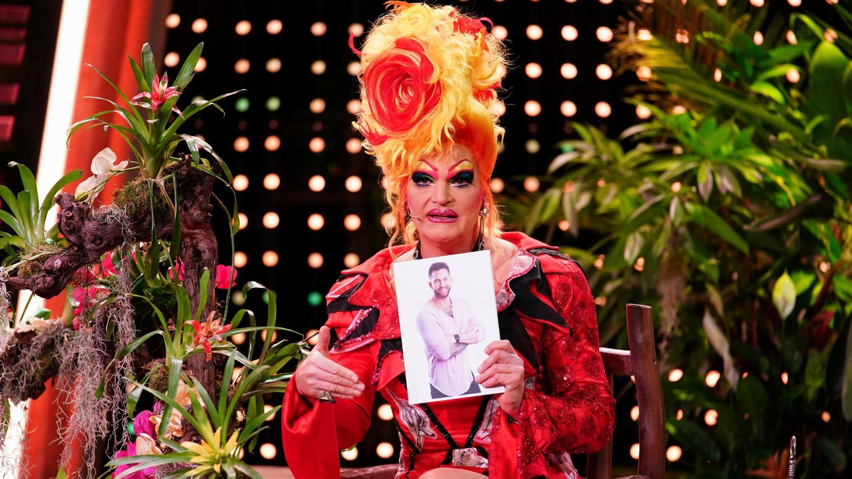 Dschungelshow-Studiogast Olivia Jones kommentiert die Leistung von Kandidat Oliver Sanne.