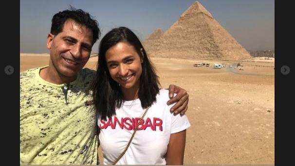 Auch dieses seltene Bild mit ihrem Vater zeigte Amira Pocher auf Instagram.