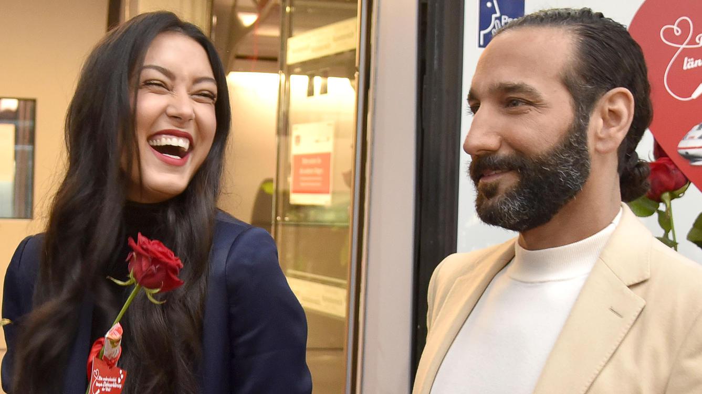 Rebecca Mir und Massimo Sinató erwarten ihr erstes gemeinsames Kind.