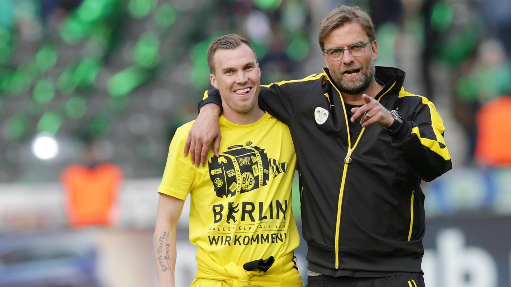 Kevin Großkreutz (links) mit Jürgen Klopp zu gemeinsamen Dortmunder Zeiten.