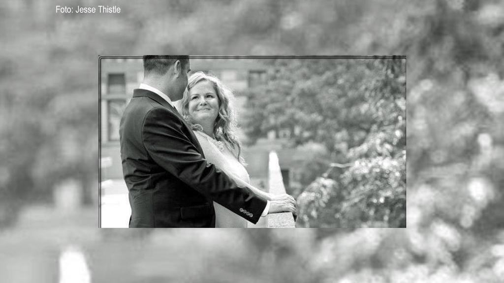 Jesse und Lucie am Tag ihrer Hochzeit im Jahr 2012.