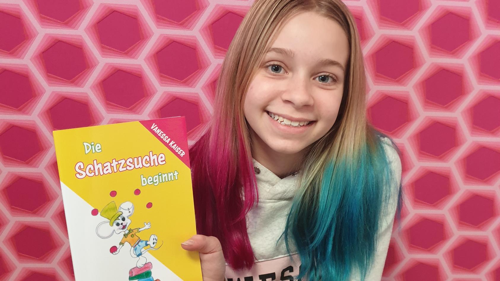 Mit  zehn Jahren veröffentlicht Vanessa Kaiser ihr erstes Buch.