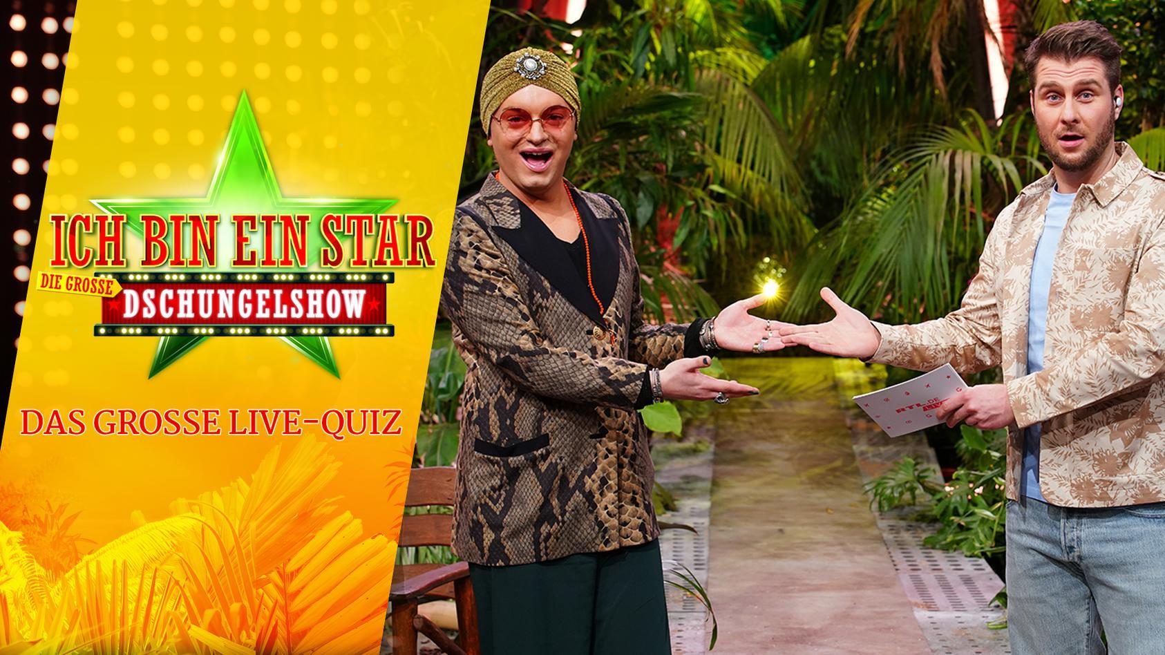 Julian F. M. Stoeckel präsentiert mit Maurice Gajda nach jeder Dschungelshow ein Quiz im Livestream