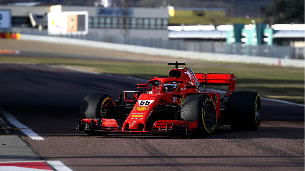 Carlos Sainz im Ferrari