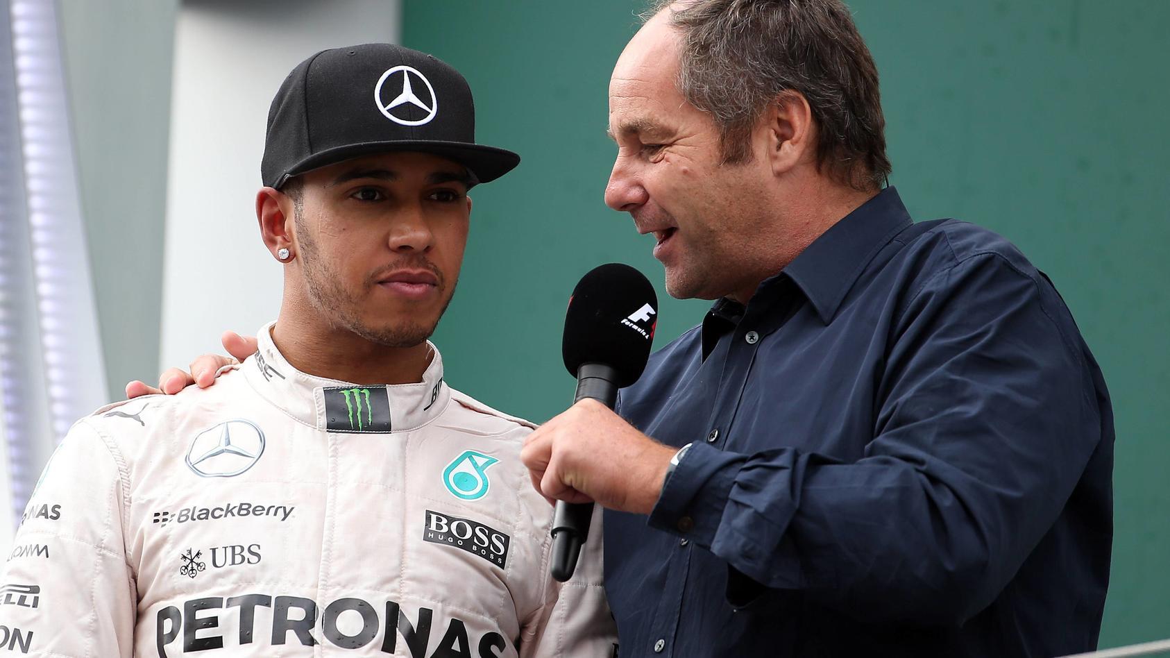Gerhard Berger (r.) hält Lewis Hamilton für den besten Formel-1-Fahrer der Gegenwart