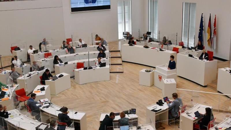 Sitzung des Landtages Brandenburg. Foto: Bernd Settnik/dpa-Zentralbild/dpa