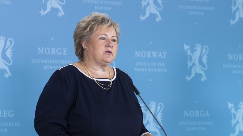 Norwegens Regierungschefin Erna Solberg hat strenge Einreisebeschränkungen verkündet. Foto: Berit Roald/NTB scanpix/dpa