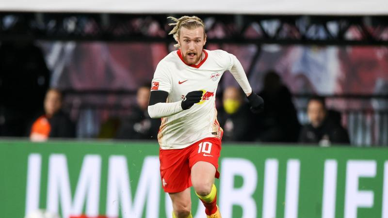 Leipzigs Spieler Emil Forsberg am Ball. Foto: Jan Woitas/dpa-Zentralbild/dpa