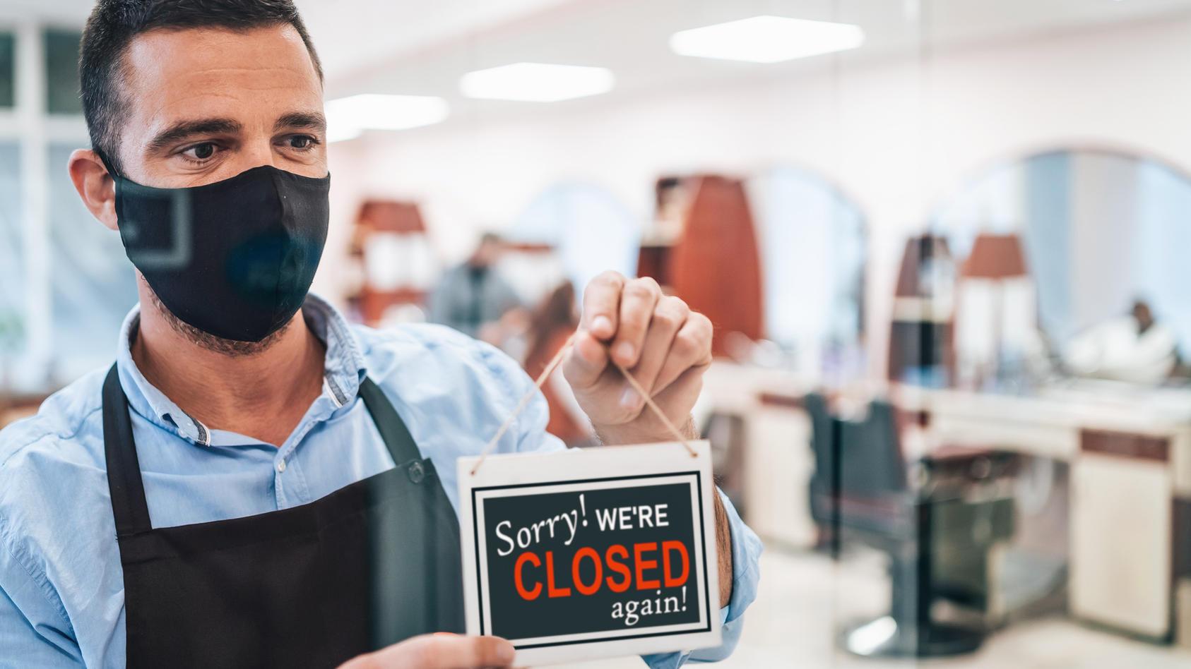 Im Zuge des Lockdowns mussten auch Friseure ihre Läden schließen - für viele ein Kampf mit der Existenz.