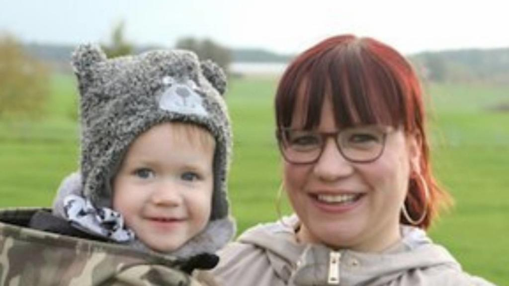 Jenny Simon und ihr Sohn Maximilian