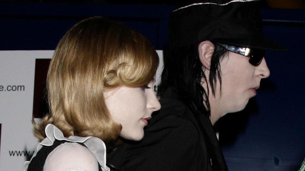 Evan Rachel Wood und Marilyn Manson 2007 bei einem Event.