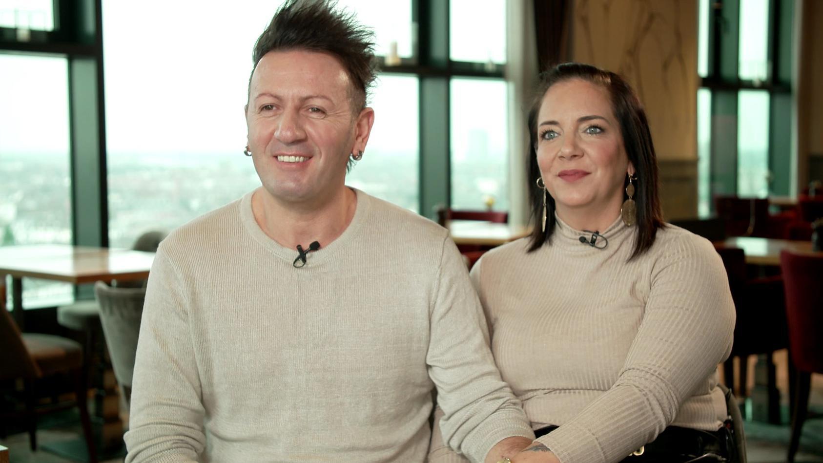 Ennesto Monté und Daniela Büchner scheinen sich wieder vertragen zu haben.