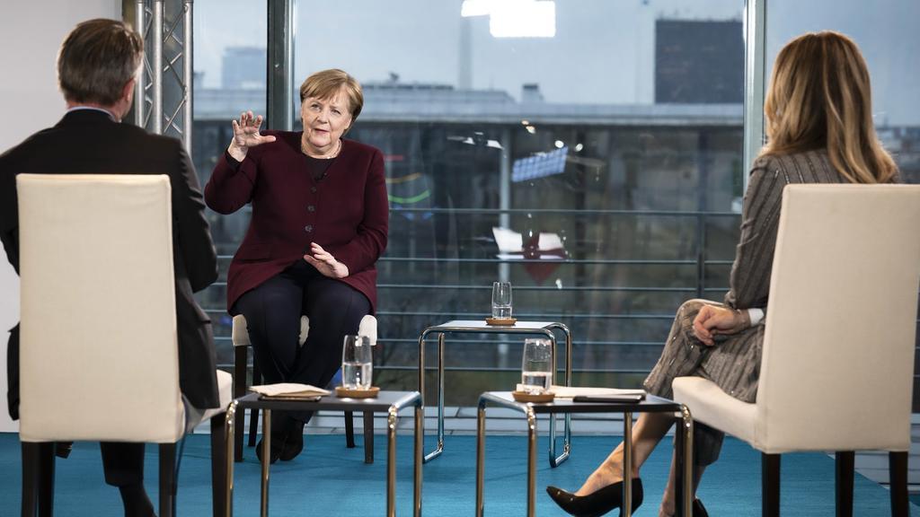 Angela Merkel im RTL-Interview