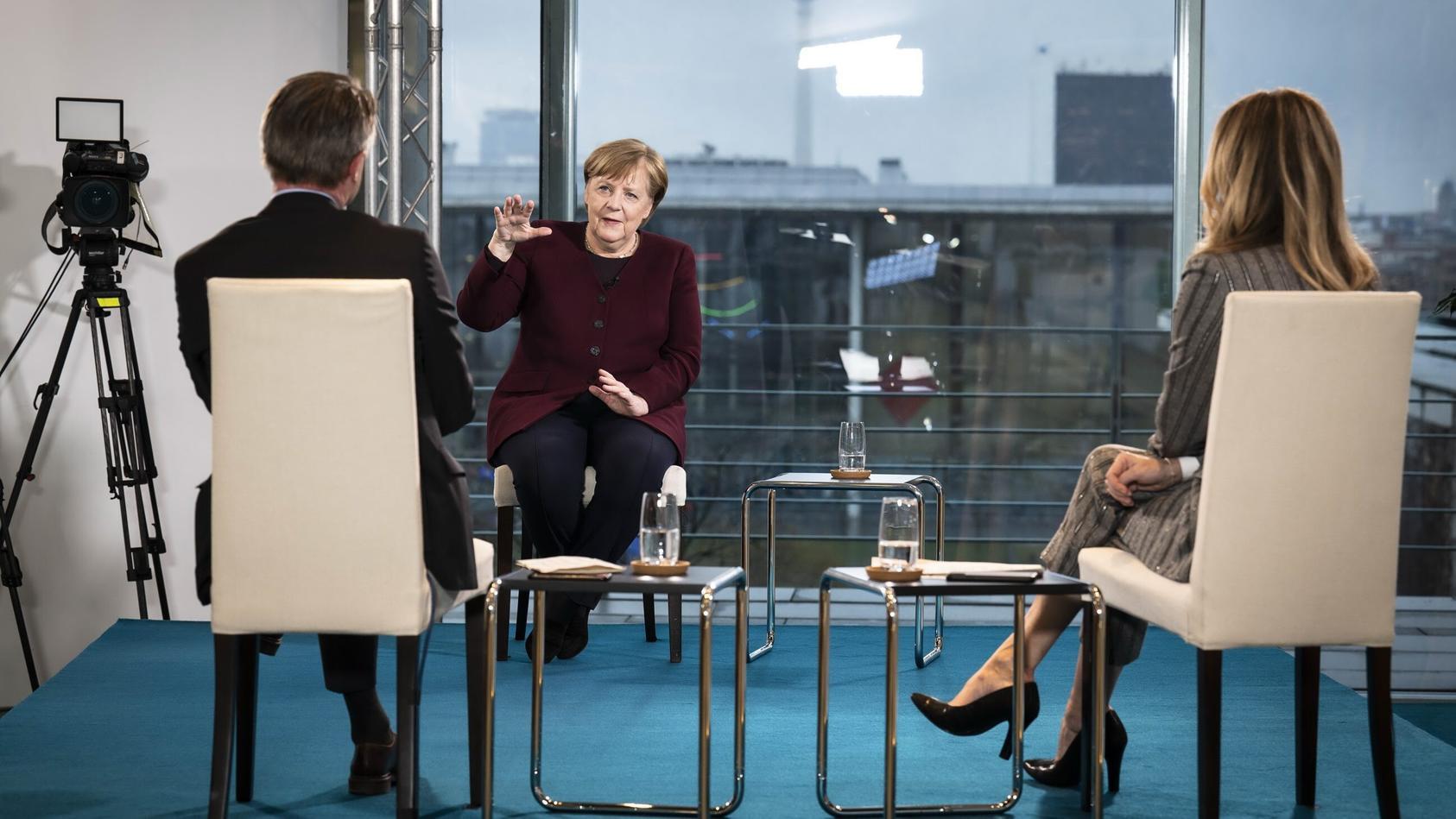 Bundeskanzlerin Angela Merkel im RTL-Interview am Donnerstag.