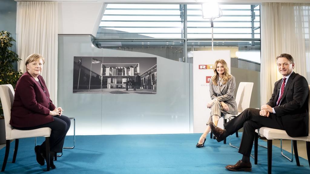 Angela Merkel im RTL-Interview mit Frauke Ludowig und Nikolaus Blome